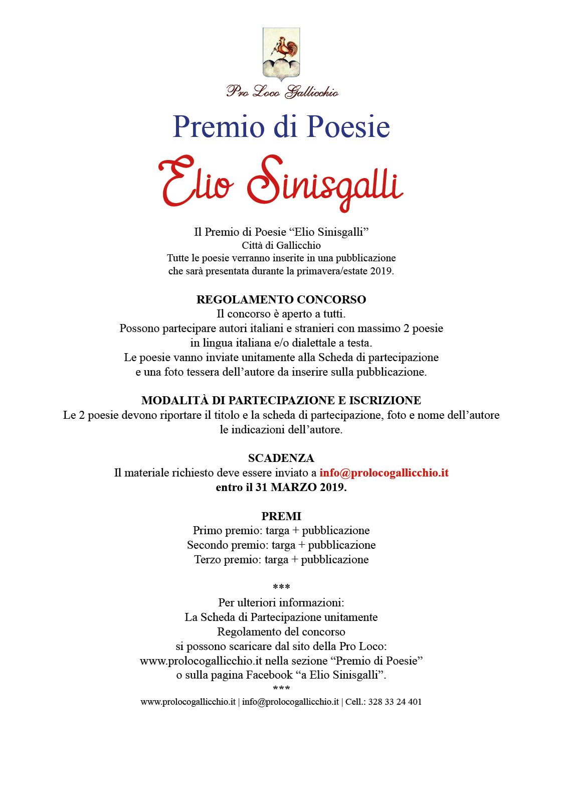 "Premio Poesie ""Elio Sinisgalli"" 2019"