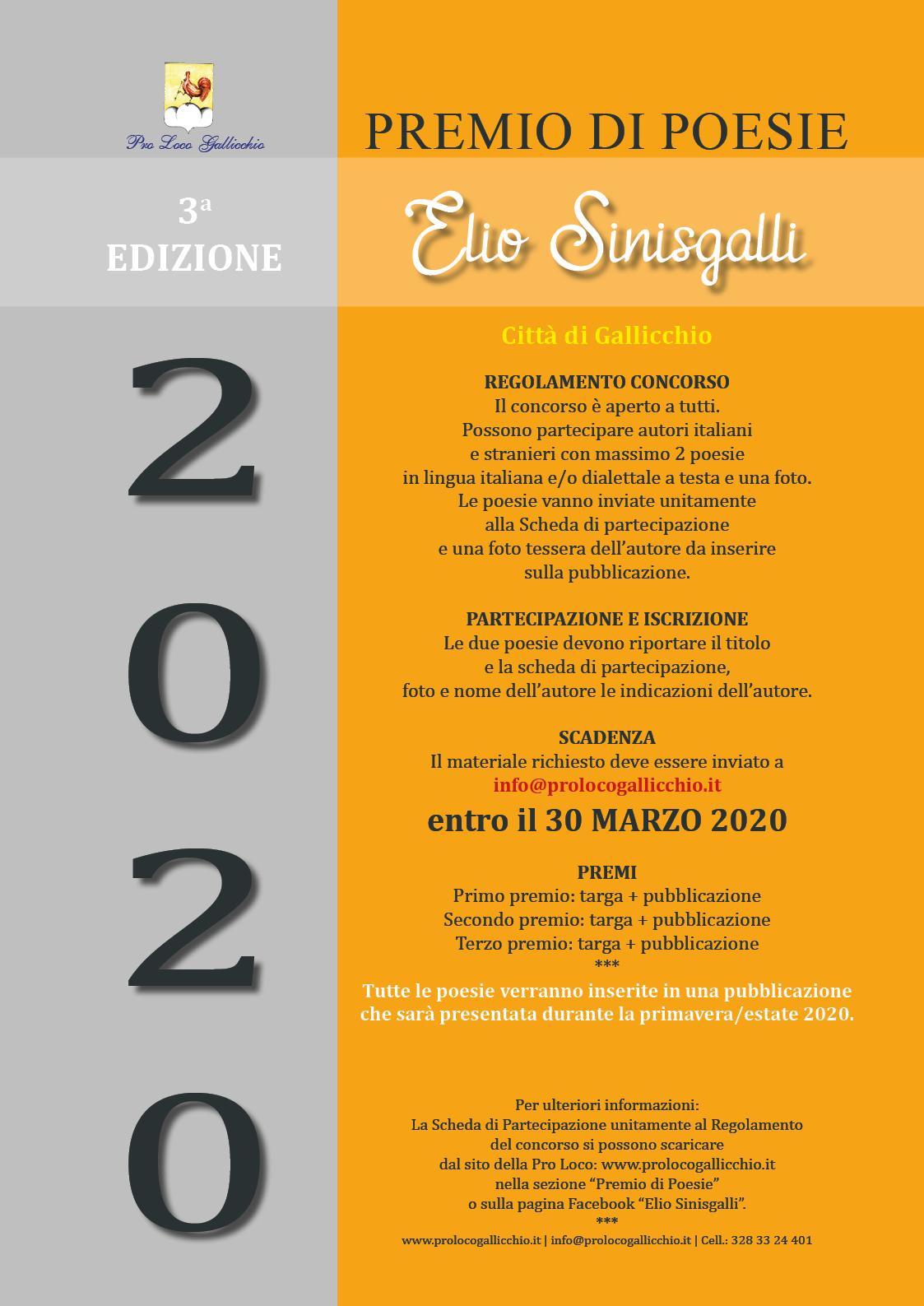 """Premio di poesia """"Elio Sinisgalli"""""""